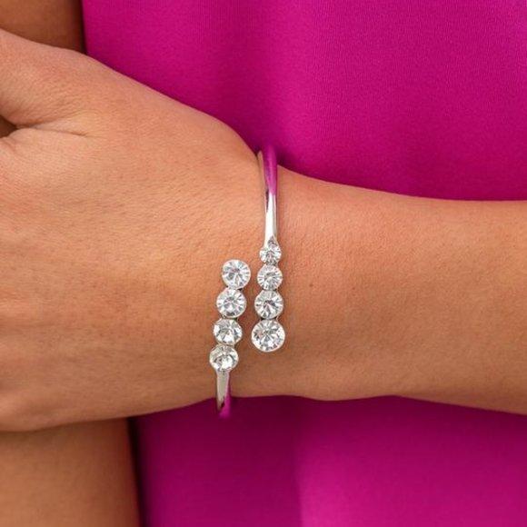 Defying Dazzle Silver Bracelet